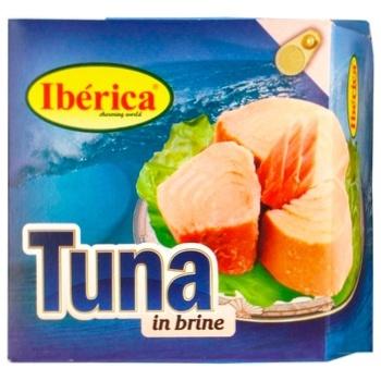 Тунец Ibericа в собственном соку 160г - купить, цены на Ашан - фото 1