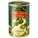 Оливки Maestro de Oliva с огурцом 300г