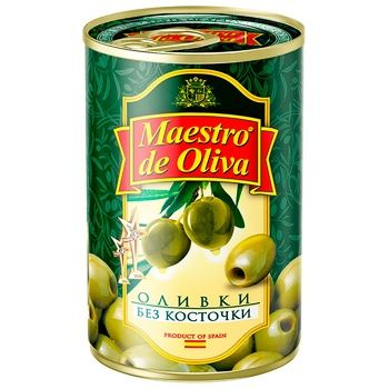 Maestro de Olivia Pitted Olives 300g - buy, prices for UltraMarket - photo 1