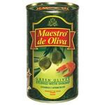 Оливки Maestro de Oliva зеленые фаршированные креветками ж/б 350мл