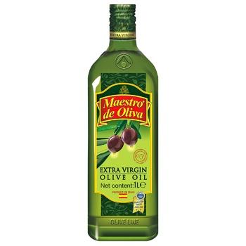 Олія Maestro de Oliva Extra Virgin оливкова нерафінована 1л - купити, ціни на Ашан - фото 1