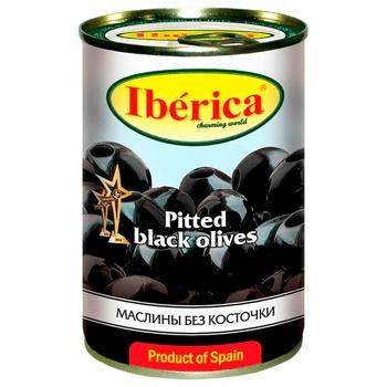 Маслины Iberica крупные черные без косточки 420г - купить, цены на СитиМаркет - фото 1
