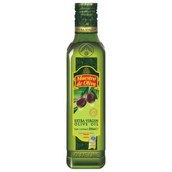 Масло Maestro de Oliva Extra Virgin оливковое нерафинированное 250мл - купить, цены на Ашан - фото 1