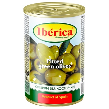 Оливки Иберика без косточки 300г - купить, цены на Метро - фото 1