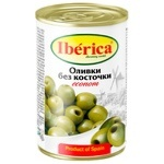 Оливки зеленые Iberica Econom без косточки 280г