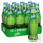 Soft drink Sprite glass bottle 250ml