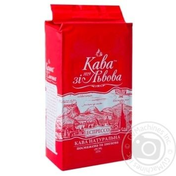 Kava zi Lvova Espresso Natural ground roasted coffee 225g - buy, prices for Novus - image 1