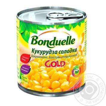 Кукуруза Бондюэль Голд сладкая консервированная 425мл - купить, цены на Novus - фото 1