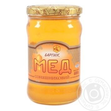 Мед цветочный подсолнечный 400г Бартник - купить, цены на Novus - фото 1