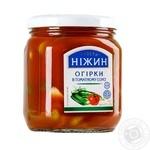 Nezhin in tomato juice cucumbers 450g