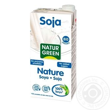 Растительное молоко NaturGreen из сои без сахара органическое 1л - купить, цены на Novus - фото 1