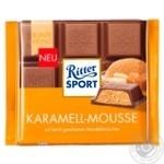 Ritter sport caramel-mousse milk chocolate 100g - buy, prices for Furshet - image 1