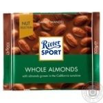 Ritter sport whole almonds milk chocolate 100g - buy, prices for Furshet - image 1