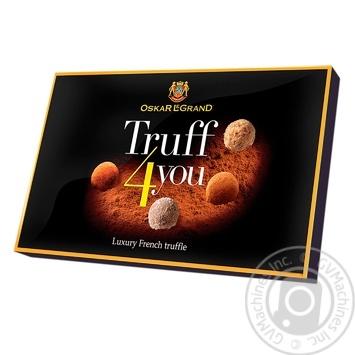 Цукерки шоколадні Oscar Le Grand Truff 4 you асорті 300г - купити, ціни на Фуршет - фото 1