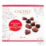 Конфеты Cachet из молочного, черного и белого шоколада 200г