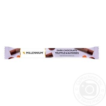 Шоколад черный Любимов с трюфельной начинкой и миндалем 38г
