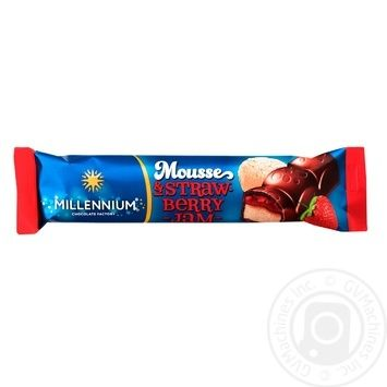 Millennium Mousse Milk Chocolate with Mousse and Strawberry Jam Fillings 33g - buy, prices for EKO Market - photo 1