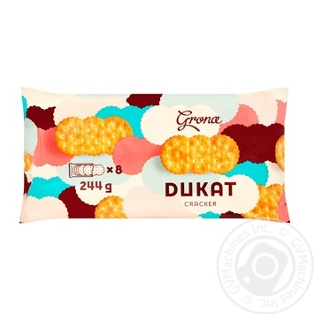 Крекер Грона Дукат 244г - купити, ціни на Ашан - фото 1