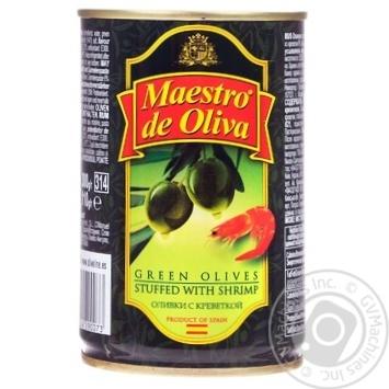 Оливки зеленые Maestro de Oliva с креветкой 300мл