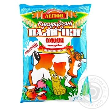 Палички Легіон Молочні кукурудзяні солодкі неглазуровані 50г - купити, ціни на Ашан - фото 1