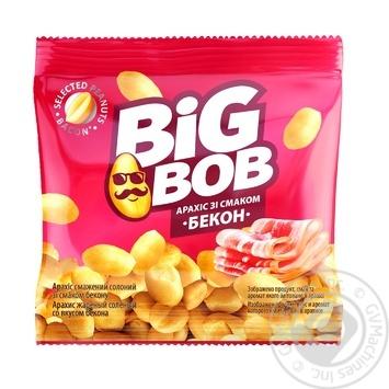 Арахіс Big Bob смажений солоний зі смаком бекону 30г - купити, ціни на МегаМаркет - фото 1