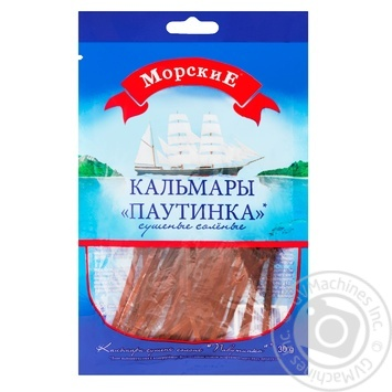 Кальмары Морские Паутинка сушеные соленые 30г - купить, цены на МегаМаркет - фото 1