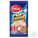 Попкорн Felix соленый 90г - купить, цены на Novus - фото 1