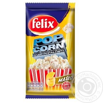 Попкорн Felix с маслом 90г - купить, цены на Novus - фото 1