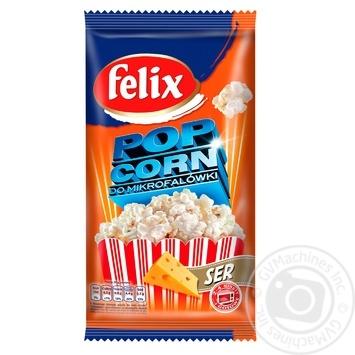 Попкорн Felix зі смаком сиру 90г - купити, ціни на Метро - фото 1