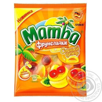 Конфеты жевательные Mamba Фрумеладкы Сочный центр 70г - купить, цены на Восторг - фото 1