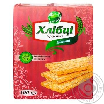Galleti Yeast & Sugar Free Rye Crispbread - buy, prices for MegaMarket - image 1
