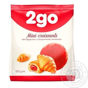 2go Croissant  with strawberry stuffing mini 180g