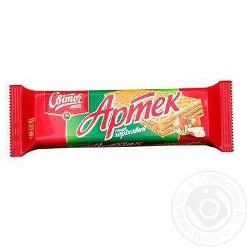Вафлі Світоч Артек горіховий смак 80г - купити, ціни на Novus - фото 1