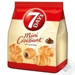 Круассаны 7 days мини с кремом какао 185г