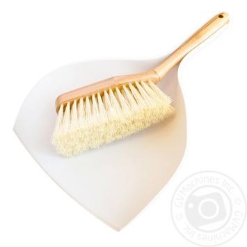 Набор для уборки York совок и щетка бамбуковые