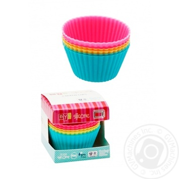 Basket Form silicone for cupcakes 6 pieces