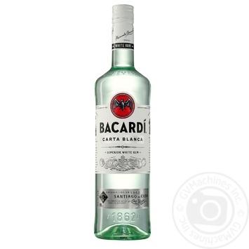 Ром Bacardi Carta Blanca белый 40% 1л - купить, цены на Novus - фото 1