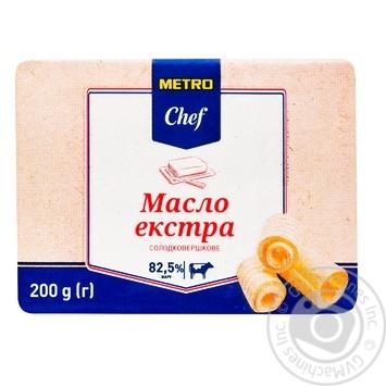 Масло METRO Chef солодковершкове 82,5% 200г - купити, ціни на Метро - фото 1
