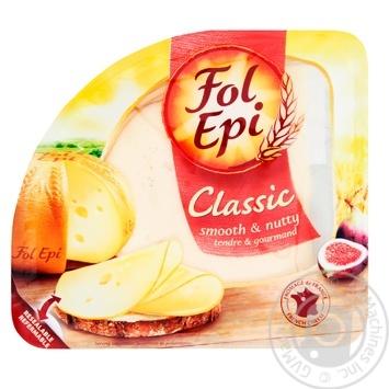 Сыр Fol Epi Classic полутвердый нарезанный 150г - купить, цены на Novus - фото 1