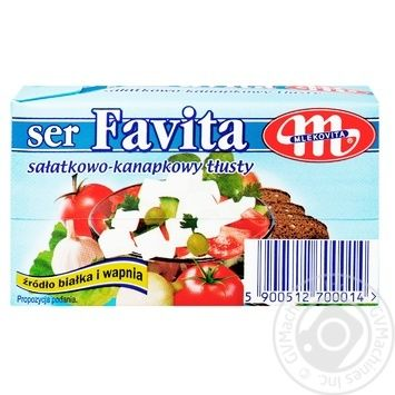 Сир Mlekovita Favita м'який солений 45% 270г - купити, ціни на МегаМаркет - фото 1