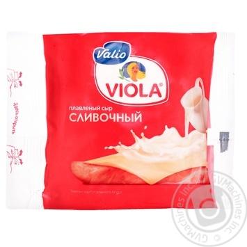 Сыр Валио Виола Сливочный плавленый ломтики 45% 150г