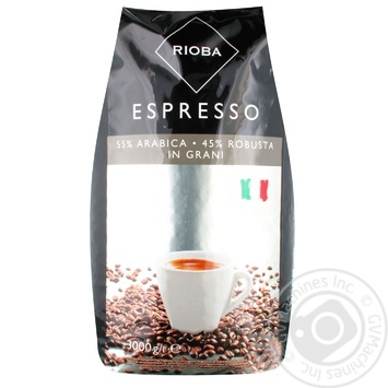 Rioba Silver In Grains Coffee 3kg