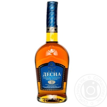 Desna Cognac ordinary 3 stars  40% 3* 0,5l - buy, prices for Novus - image 1