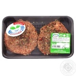 Spravzhne-e chilled with mustard with lambs hamburger