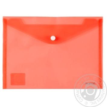 Папка Axent A5 з кнопкою червона - купити, ціни на Метро - фото 1