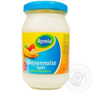 Майонез Remia Легкий 25% 250мл - купити, ціни на МегаМаркет - фото 1