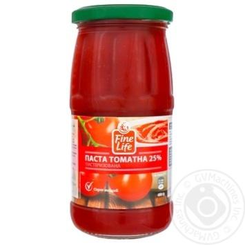 Паста томатная Fine Life пастеризованная 25% 480г