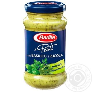 Соус Barilla Pesto Basilico e Rucola 190мл - купить, цены на МегаМаркет - фото 1