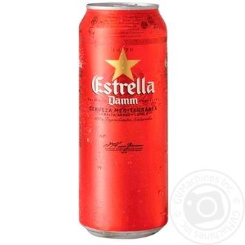 Estrella Damm Barcelona Light Beer 4,6% 0,5l - buy, prices for Auchan - photo 1