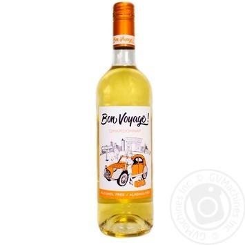Вино безалкогольное Bon Voyage! Шардоне белое полусладкое 0,75л - купить, цены на Метро - фото 1